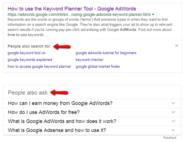 New People Also Search For Feature Added To Google Serps