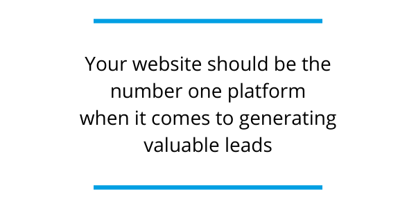 quote from lead generation blog