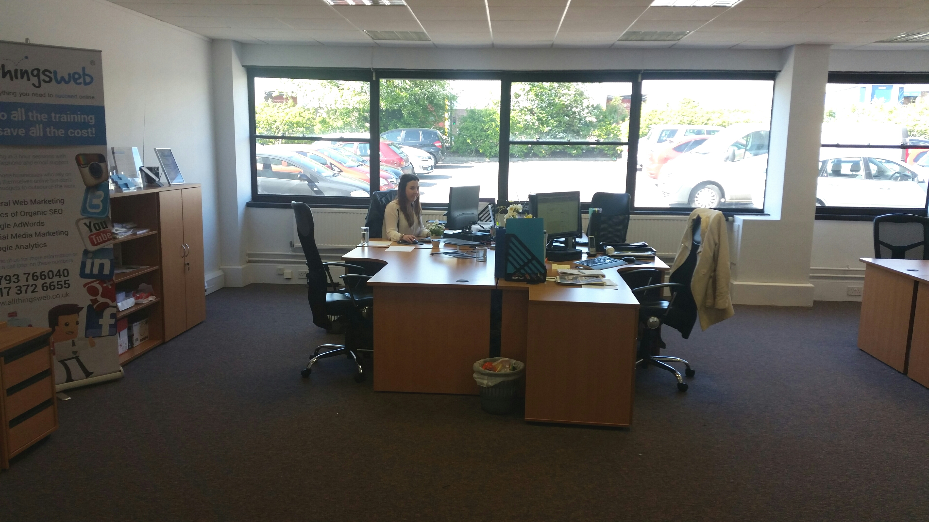 New Larger Office for the Growing All Things Web® Team