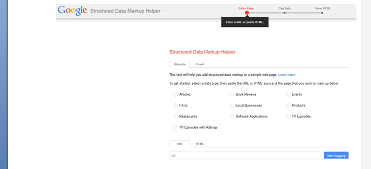 Google's Structured Data Helper