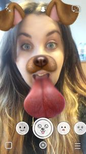 Dog filter on snapchat