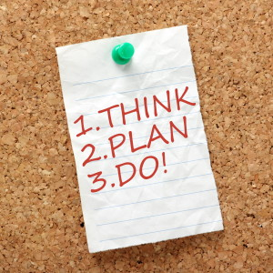 Think, plan, do first day job tips