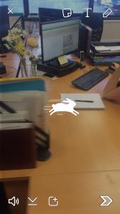 Speeding up a video on snapchat