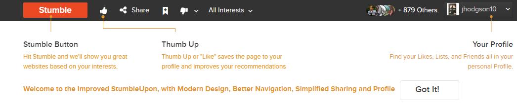 SlideShare user interface