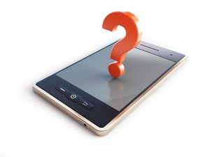AMP pages mobile phone question mark