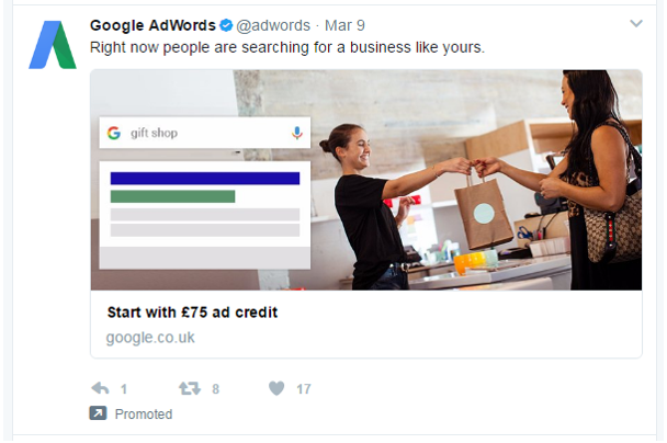 twitter paid website card ads